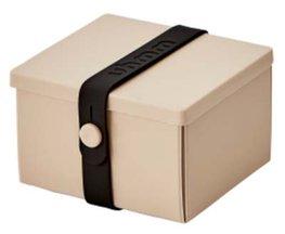 Uhmm Box vierkant Mocca - Black