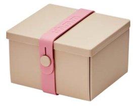 Uhmm Box vierkant Mocca - Pink