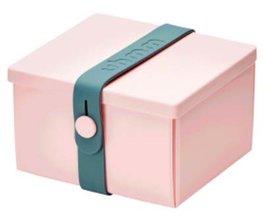 Uhmm Box vierkant Pink - Petrol