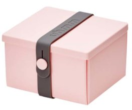 Uhmm Box vierkant Pink - Dark Grey