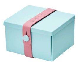 Uhmm Box vierkant Mint - Pink