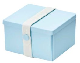 Uhmm Box vierkant Light Blue - White