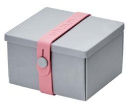 Uhmm Box vierkant Light Grey - Pink