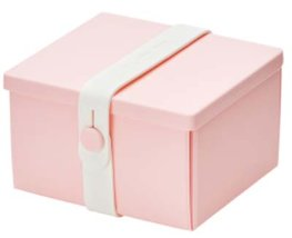 Uhmm Box vierkant Pink - White