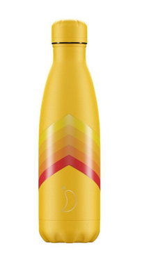 Chilly's geïsoleerde drinkfles 500ml Yellow Zigzag
