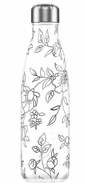 Chilly's geïsoleerde drinkfles 500ml Line Art Flowers