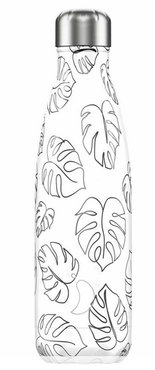 Chilly's geïsoleerde drinkfles 500ml Line Art Leaves