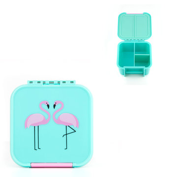 Little Lunchbox MINI Flamingo - 2/3 vakken