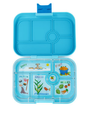 Yumbox original 6-vakken (Blue Fish)