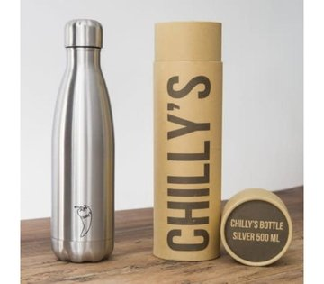 Chilly's geïsoleerde drinkfles 500ml Stainless Steel