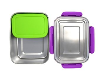 ECOtanka RVS Lunchbox Violet met 1 Pocketbox