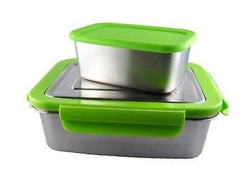 ECOtanka RVS Lunchbox Groen met 1 Pocketbox