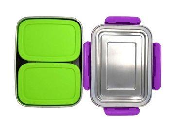 ECOtanka RVS Lunchbox Violet met 2 Pocketboxen