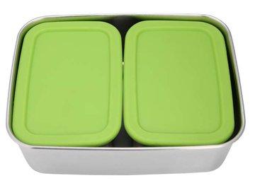 ECOtanka RVS Lunchbox Groen met 2 Pocketboxen