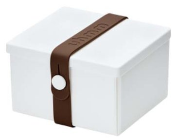 Uhmm Box vierkant White - Brown