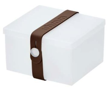 Uhmm Box vierkant Transparant - Brown