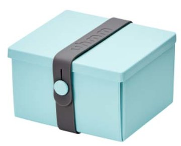 Uhmm Box vierkant Mint - Dark Grey