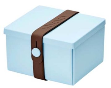 Uhmm Box vierkant Light Blue - Brown