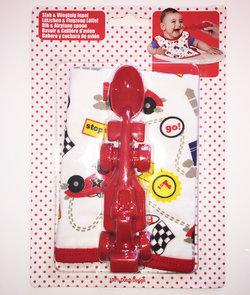 Cadeau bij minimale besteding van €35: Cadeauset met slab en rode racewagen